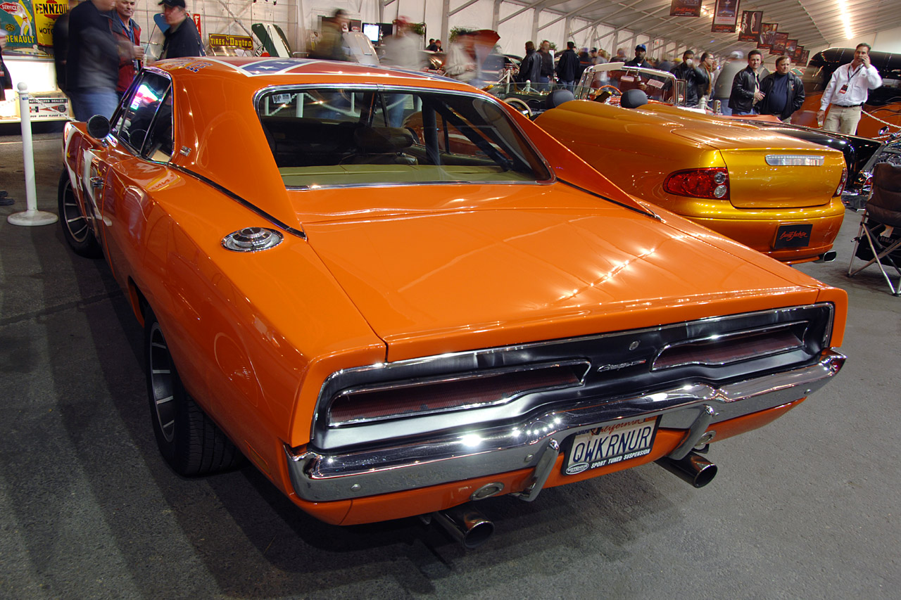barrett jackson 2008 general lee dodge charger verkauft f r muscle cars. Black Bedroom Furniture Sets. Home Design Ideas