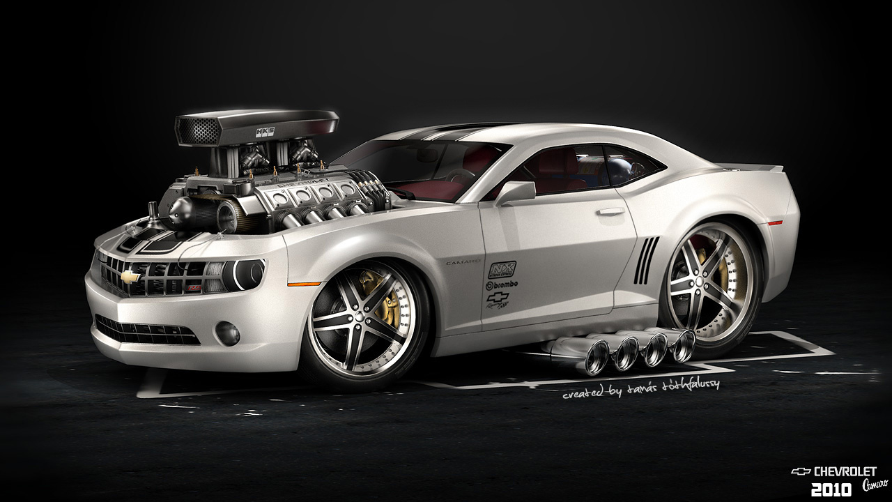 Design: Artwork by Tamás Tóthfalussy – Muscle Cars